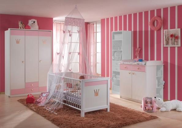 Detská zostava Cinderella - Set 5 (biela, růžová)