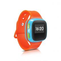 Detské chytré hodinky Alcatel s GPS, oranžová/modrá, ZÁNOVNÉ
