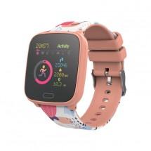 Detské chytré hodinky Forever IGO, IP68, broskyňová