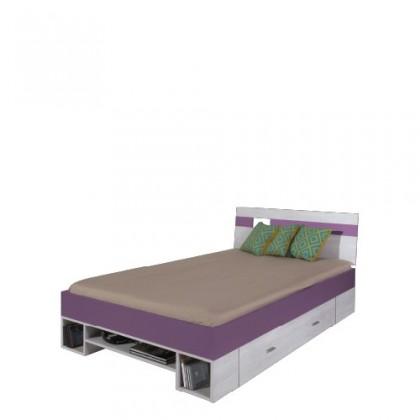 Detské izby ZLACNENÉ NEXT NX 18 (borovica/fialová)