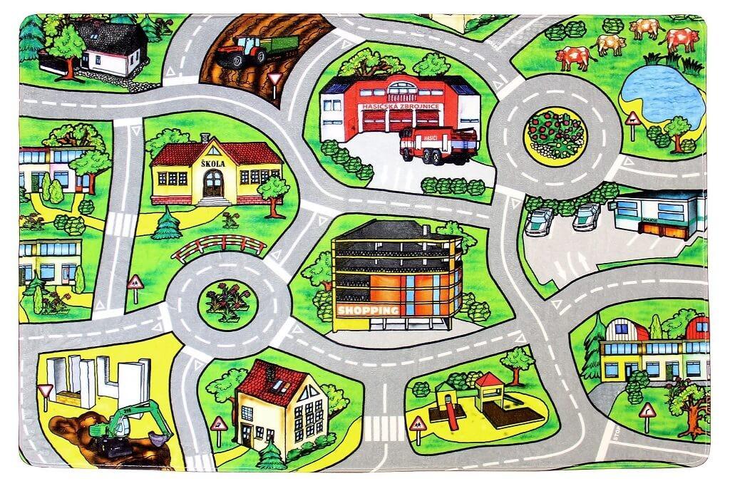 Detské koberce Kusový koberec Silnice 21 (140x200 cm)