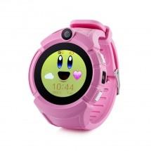 Detské smart hodinky GW600 s GPS, ružová, POUŽITÉ