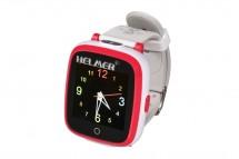 Detské smart hodinky Helmer KW 802, červeno-biele