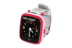 Detské smart hodinky Helmer KW 802, SIM karta, červeno-biela