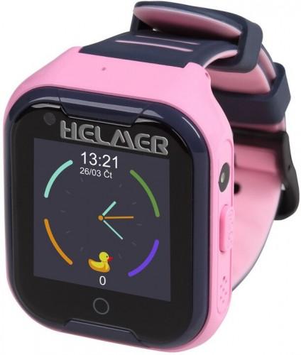 Detské smart hodinky Helmer LK 709 s GPS lokátorom, ružová