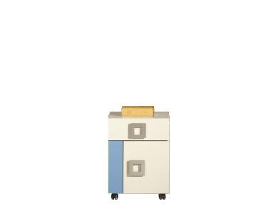 Detský kontajner LABYRINT LA 20 (krémová/modrá)