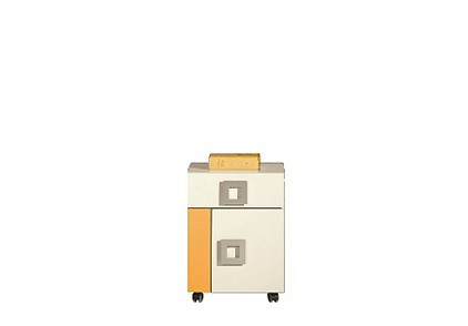 Detský kontajner LABYRINT LA 20 (krémová/oranžová)