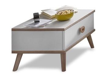 Detský nočný stolík Billund - Nočný stolík (alpská biela, dub)
