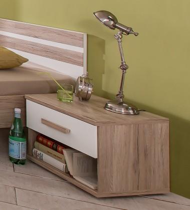 Detský nočný stolík Cariba - Nočný stolík (san remo dub, biela)