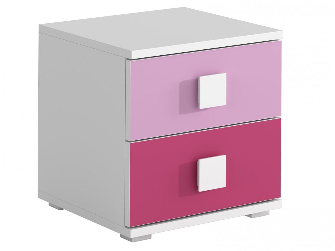Detský nočný stolík FOX 12 - Nočný stolík (ružová)