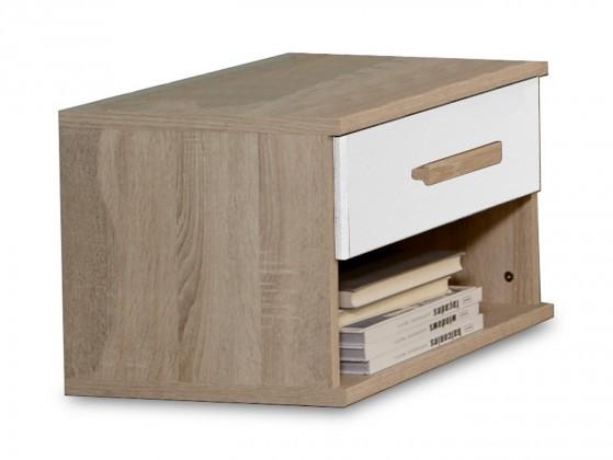 Detský nočný stolík Game - Nočný stolík (biela, dub)