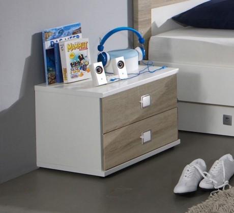 Detský nočný stolík Kira-325697(alpská biela / dub pílený)