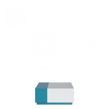 Detský nočný stolík MOBI MO 16 (biela lesk/tyrkysová)