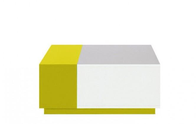 Detský nočný stolík MOBI MO 16 (biela lesk/žltá)