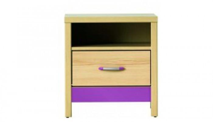 Detský nočný stolík Monza - nočný stolík, CD 14 (višňa cornvall, fialová)