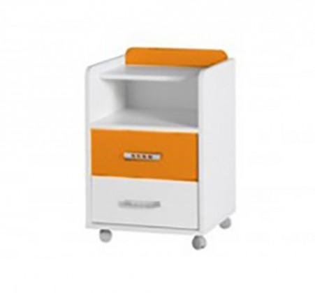 Detský nočný stolík Nemo 7 (biela/oranžová)