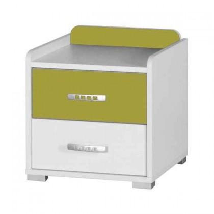 Detský nočný stolík Nemo 8 (Biela/Zelená)