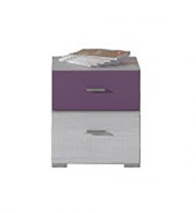 Detský nočný stolík NEXT NX 17 (borovica/fialová)