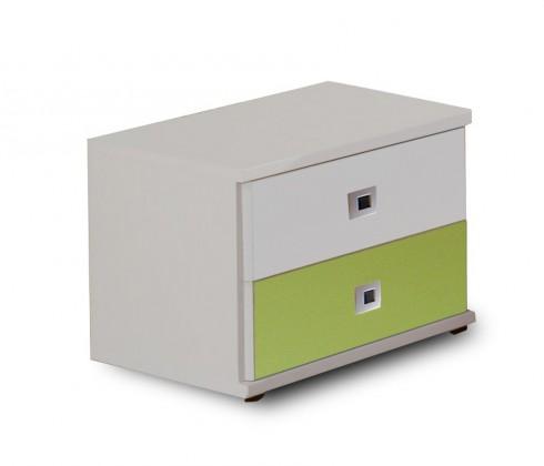 Detský nočný stolík Sunny - Nočný stolík (alpská biela so zeleným jablkom)