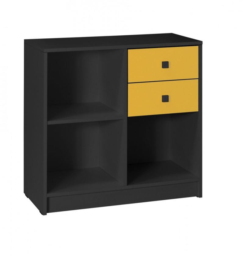 Detský nočný stolík Tommy 13 (sivá/žltá)