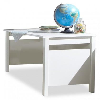 Detský pracovný stôl Bibi - Pracovný stôl (alpská biela, modrá)