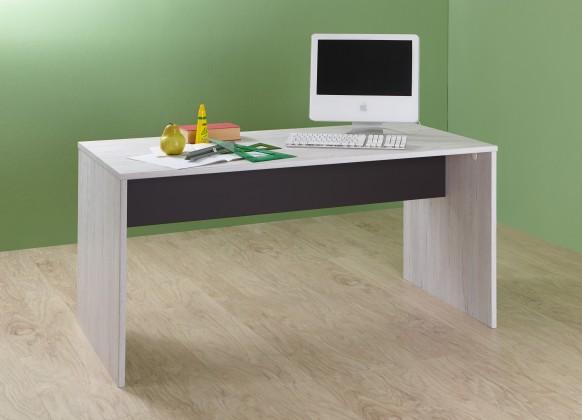 Detský pracovný stôl Cariba - Pracovný stôl (biela dub, čierna láva)