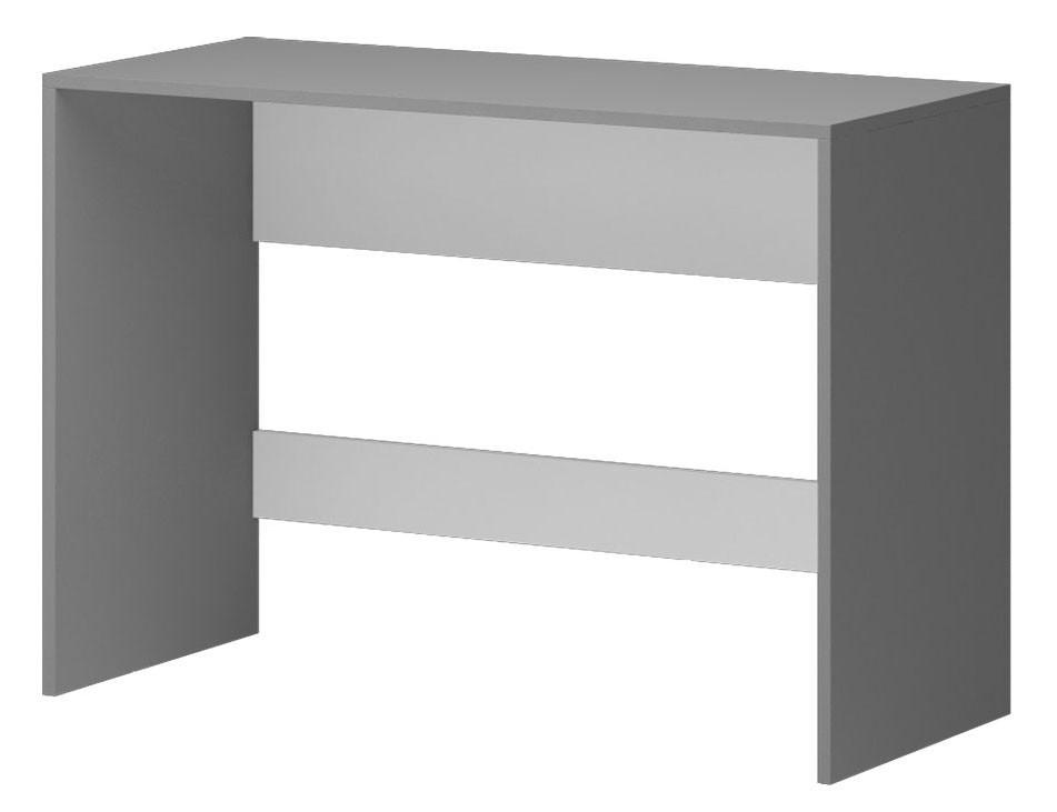 Detský pracovný stôl Diego 12 - Stôl (predná strana biela/sivé boky)