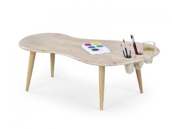 Detský pracovný stôl Jamaica - Detský stôl (bielené drevo)