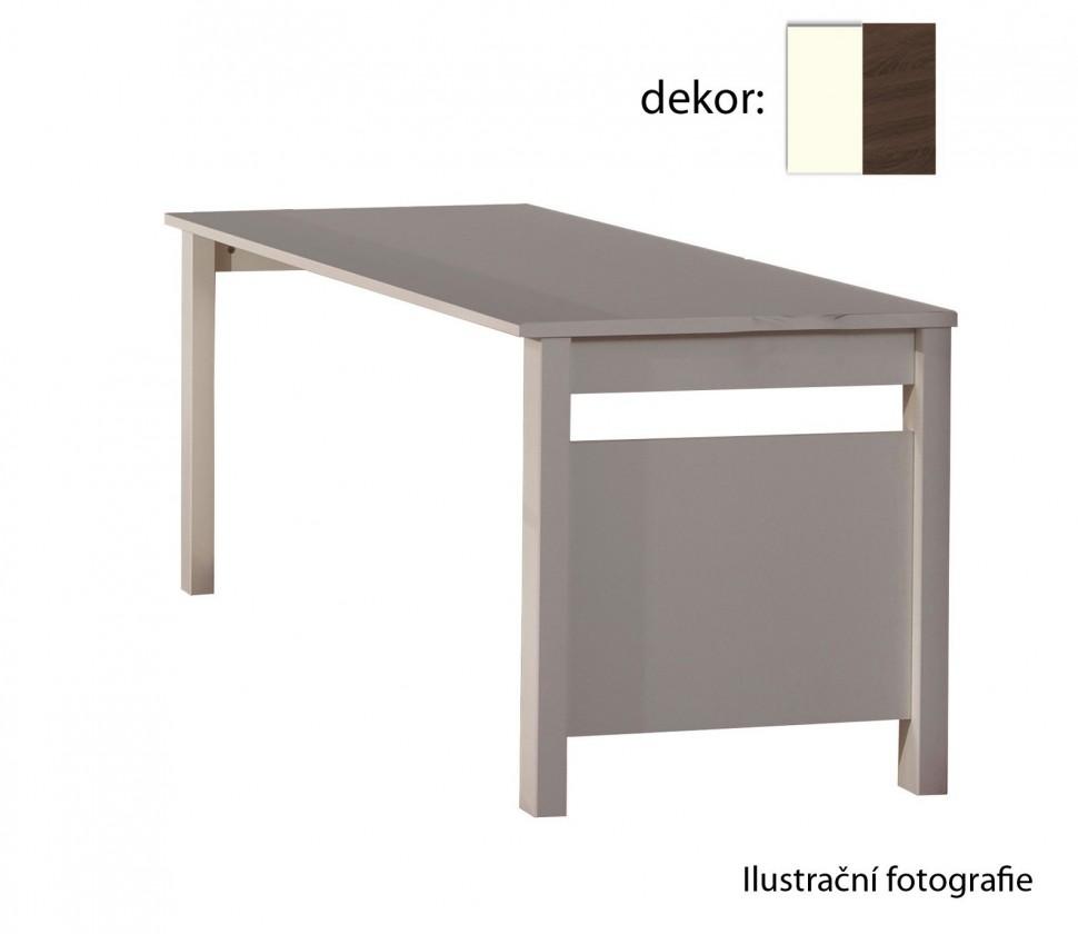Detský pracovný stôl Jette - Stôl (biela, kolumbijský orech)