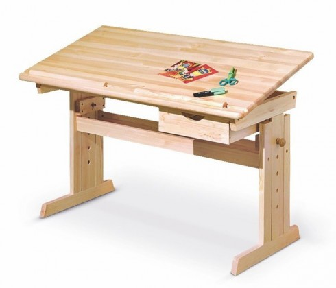 Detský pracovný stôl Julia (borovica)