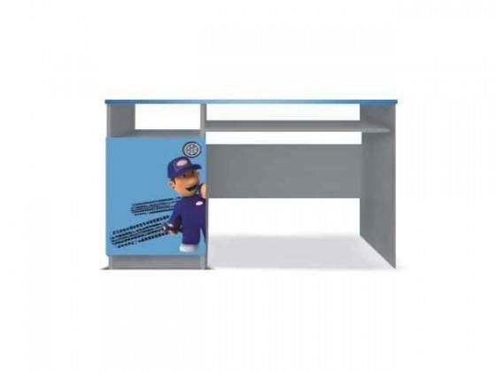 Detský pracovný stôl Junior mechanik - PC stôl (sivá/modrá)