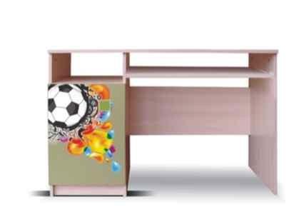 Detský pracovný stôl Junior - PC stôl, lopta 13 (breza/zelená)