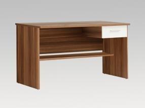 Detský pracovný stôl Lupo LPB20 M68 (biela/Orech)