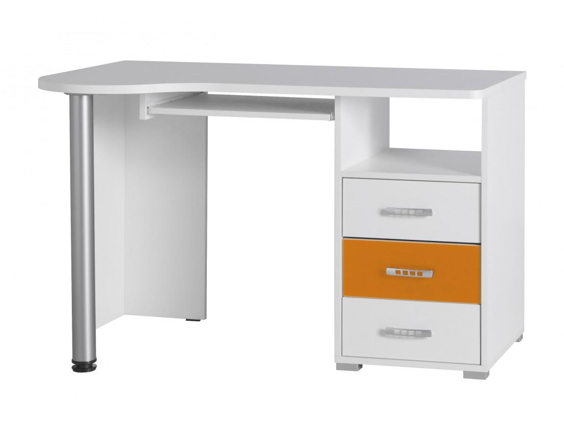Detský pracovný stôl Nemo 11 (biela/oranžová)