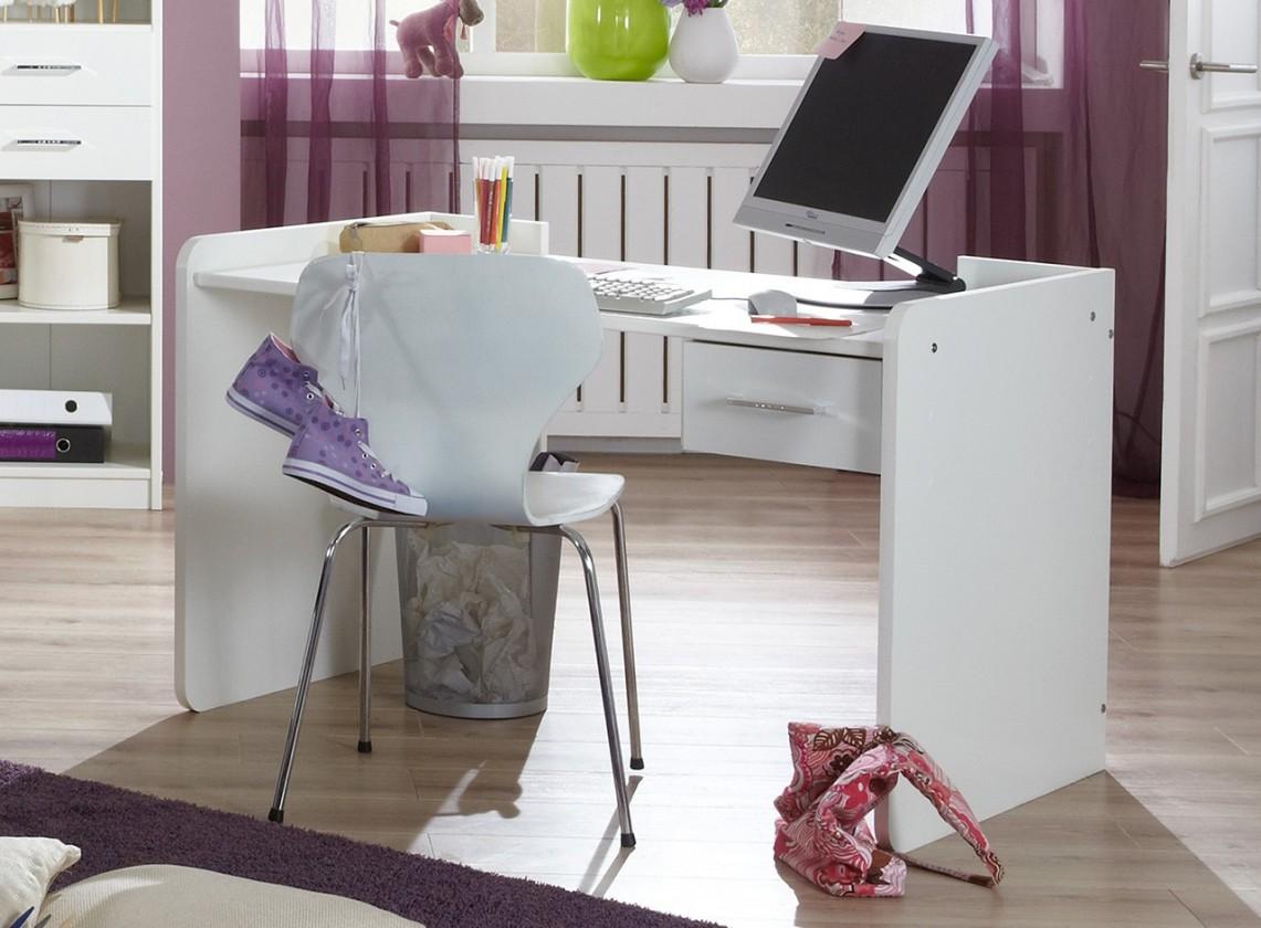 Detský pracovný stôl Nightlight - Detský pracovný stôl  (biela, krištáľové kamienky)