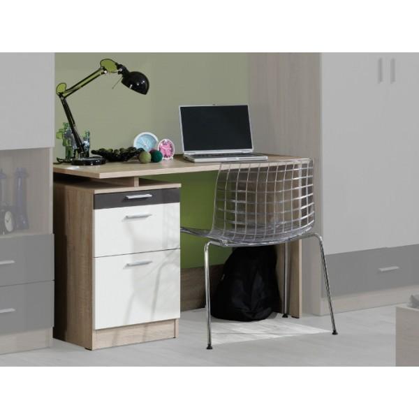 Detský pracovný stôl Oskar 4(dub sonoma/krémová/sivá)