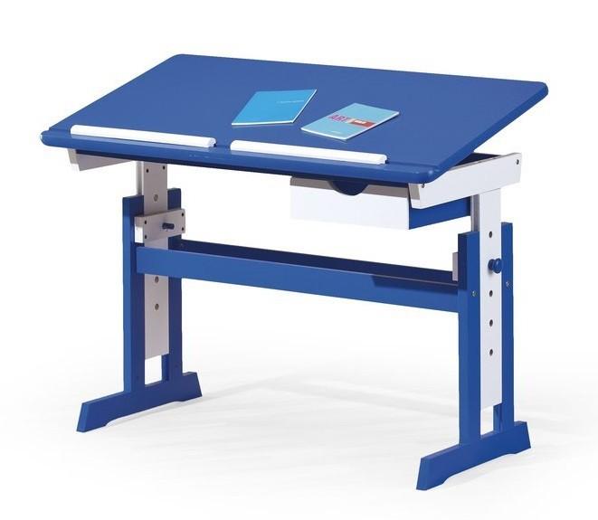 Detský pracovný stôl Paco (modrá/biela)
