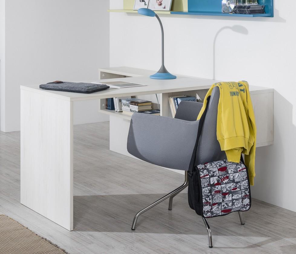 Detský pracovný stôl Pine Aurélio - Prídavný detský stôl (biela)