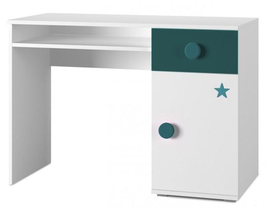 Detský pracovný stôl Simba 12(korpus biela/front biela a tyrkysová)