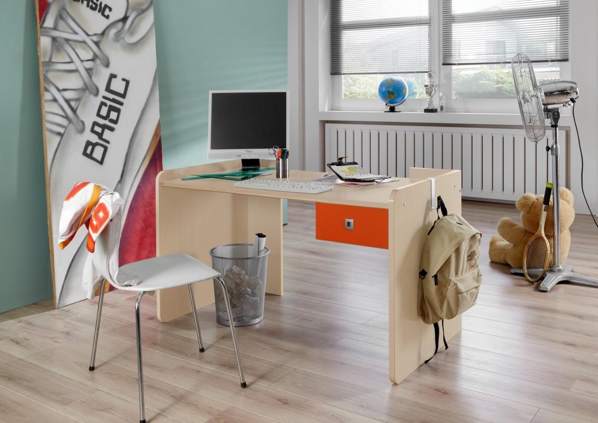 Detský pracovný stôl Sunny - Pracovný stôl, detský (červenooranžová)