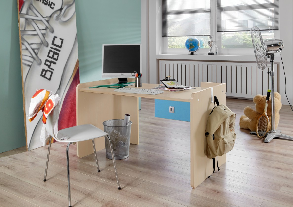 Detský pracovný stôl Sunny - Pracovný stôl, detský (námornícka modrá)