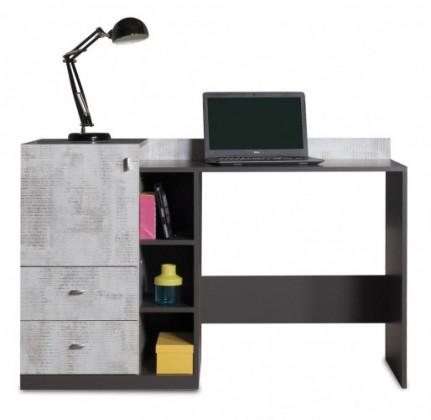 Detský pracovný stôl Tablo - písací stôl, 1x dvere, 2x zásuvka (grafit/enigma)