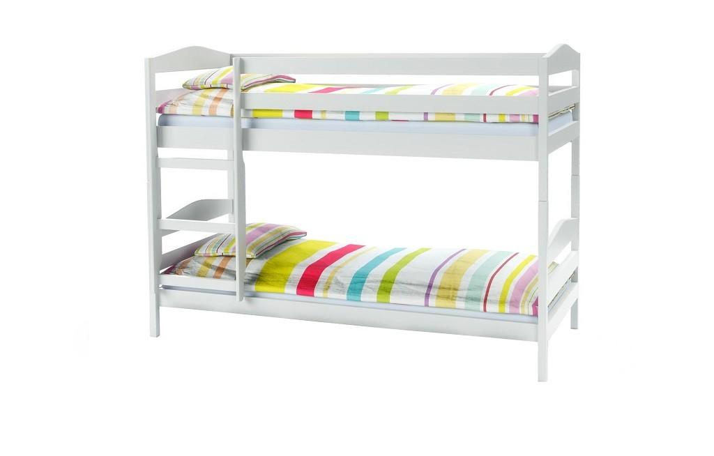 Detský regál Detská poschoďová posteľ Selina (biela)
