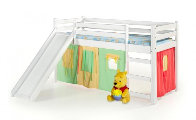 Detský regál Detská posteľ Nana zvýšená (biela)