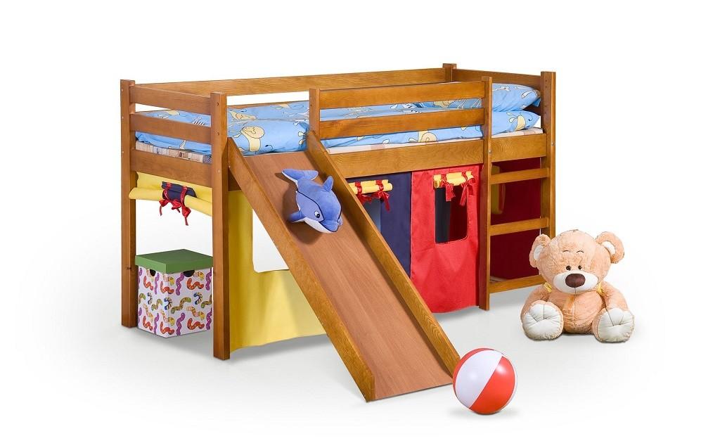 Detský regál Detská posteľ Nava (borovica)