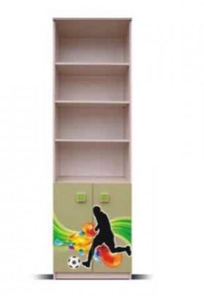 Detský regál Junior - Regál, lopta 4 (breza/zelená)