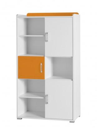 Detský regál Nemo 4 (biela/oranžová)