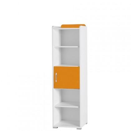Detský regál Nemo 5 (biela/oranžová)