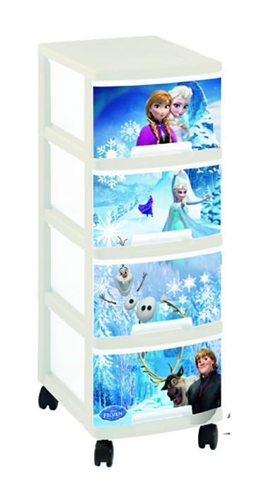 Detský regál Regálik so 4 zásuvkami - 4x10l Frozen (modrá)