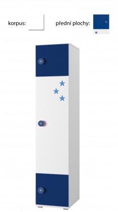 Detský regál Simba 3(korpus biela/front biela a modrá)